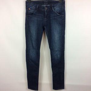 Hudson Dark Wash Skinny Jeans Flap Pocket Size 28
